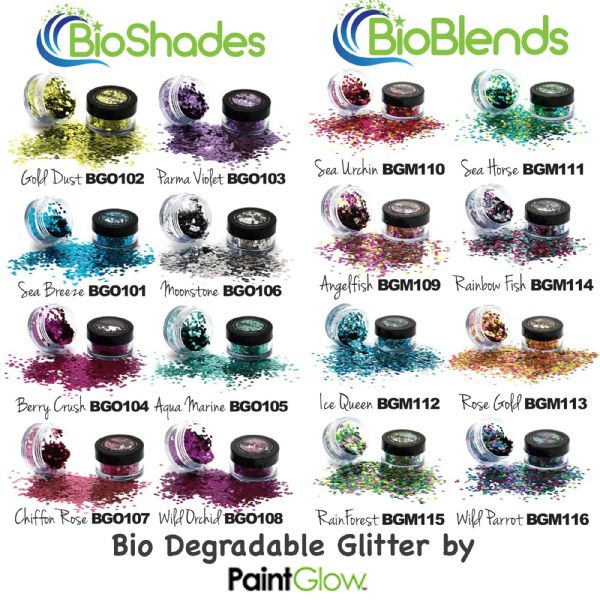 Bio-Degradable Glitter - Complete Set